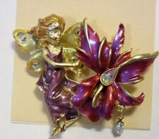 KIRKS FOLLY ORCHID FLOWER PIN NWT