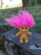 "Vintage Troll Doll Russ hot pink  Hair 5"" used"