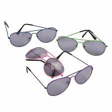 Bright Color Aviator Sunglasses - Apparel Accessories - 12 Pieces