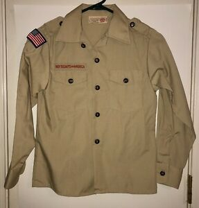 Boy Scouts of America Official Uniform Tan Shirt Youth Medium