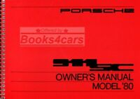 911 PORSCHE 1980 OWNERS MANUAL 911SC OWNER'S HANDBOOK