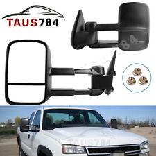 Manual Tow Mirrors Pair for 99-06 Chevy Silverado GMC Sierra NBS 1500 2500 3500