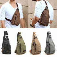 Men Small Canvas Military Messenger Shoulder Travel Hiking Bag Backpack UK 2015Y