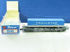 """Roco N 25149 Taschenwagen mit Auflieger """"TRAILSTAR-ROTTERDAM""""  NS OVP (y4132)"""