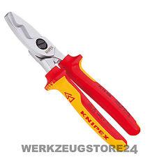 Knipex 95 16 200 mm Kabelschere Doppelschneide 9516200 Schere für Kabel