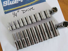 "Blue-point Tools 1/4"" Drive 22pcs. Metric Shallow & Deep Socket Set"