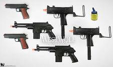 LOT of 6 New Airsoft Guns -- Metal 1911/Uzi/Pistols/Retro/WWII/handgun/props