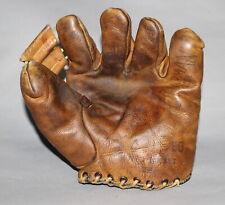 Antique 1940's Stall & Dean Sam Chapman Speed Model split finger baseball glove