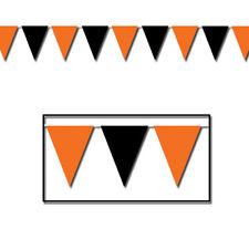 Orange And Black Pennant Banner
