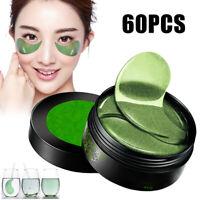 60pcs Green Seaweed Eye Mask Anti Wrinkle Dark Circles Gel Patches Skin Care