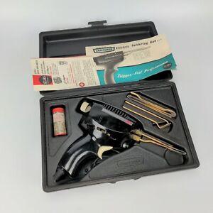 Craftsman 200 Dual-Heat Electric Soldering Gun w/ Case Manual & Tips - vintage