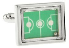 Soccer Field Cufflinks Goal Game Ball Moves Wedding Fancy Gift Box Free Ship USA