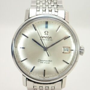 Wristwatch OMEGA Seamaster DE VILLE USED Men's Analog Silver 34mm SS Automatic