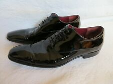 MENS BOSS HUGO BOSS PATENT LEATHER DRESS SHOES, SZ 10