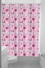 Sourpuss Zombie Bunny Fabric Shower Curtain & Rings Pink Gothic Horror Kitsch
