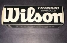 Wilson Titanium Core Plus Golf Balls Box Of 3