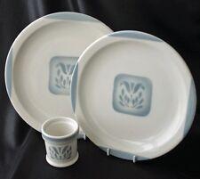 Vintage Syracuse China CADET Pattern 2 Plates & Mustard Pot