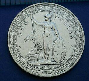 British Trade Dollar 1901 B Incuse - Polished