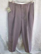 Van Heusen Fashion Gabardine Dress Pants Size 34 X 32 Relaxed NWT Pleats & Cuffs