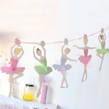 Paper Ballet Girl Bunting Paper Flags Ballerina Birthday Party Decoration