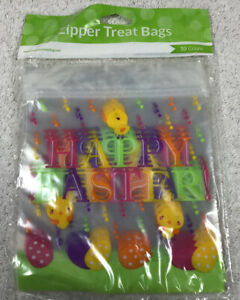 Happy Easter Zipper Treat Bags - 10 Count