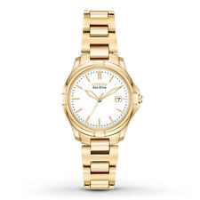 Citizen Eco-Drive Women's EW1962-53A Silhouette Gold Tone Sport 28mm Watch