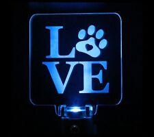 Dog Love Puppy Paw Night Light Handmade Choose color