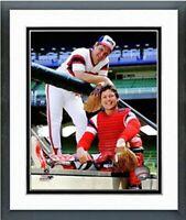 """Tom Seaver & Carlton Fisk Chicago White Sox MLB Photo (12.5"""" x 15.5"""") Framed"""