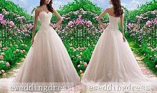 New White/Ivory Lace Sweetheart Wedding Dress Bridal Prom Pageant Custom Size
