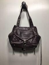 Botkier Trigger Satchel Double Zip Leather Handbag Purse Light Purple