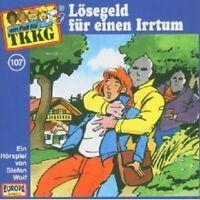 """TKKG """"LÖSEGELD FÜR EINEN IRRTUM (FOLGE 107)"""" CD HÖRBUCH NEUWARE"""