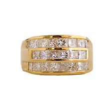 14kt Yellow Gold Men's Band 2.92 Princess diamonds