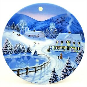 Jim Sias Collector Plate Spirit of Christmas Deck the Halls 1991 Third in Series