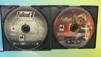 Fallout 3 + Fallout New Vegas  Sony PlayStation 3 PS3 Lot Game Tested & Working