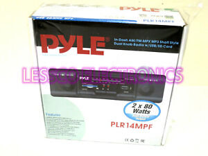 Pyle PLR14MPF Classic Style 2 Shaft Old School Fit AM/FM USB SD Car Stereo