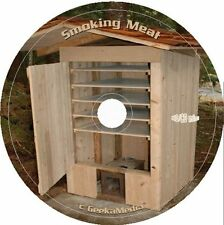 Build A Food Smoker Smokehouse Plans Smoking Meat Recipes cd Book Cure Curing