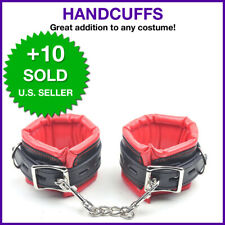 Red and Black High Quality Handcuffs Sexy Slave Hand Ankle Adult Toys Cuffs