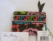 Vera Bradley LOLA Euro WALLET Coin TRI-FOLD FOR Handbag TOTE Backpack PURSE  NWT