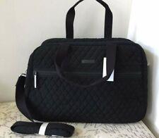 New VERA BRADLEY MEDIUM TRAVELER Overnight Microfiber BAG TOTE in Black R$148