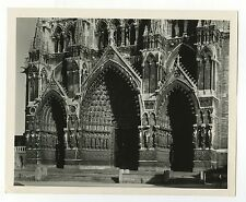 Amiens French Cathedral - Vintage 8x10 Publication Photograph - France
