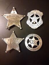 4 BADGES  U.S. MARSHALS, ARIZONA RANGER DEP. , U S MARSHAL,  TOMBSTONE MARSHALL