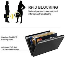 RFID Credit Card Protector Wallet, Block Identity Thieves Stainless Steel Holder