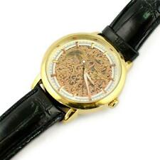 Winner Gold Plated Skeleton Dial Men's Automatic Mechanical Watch