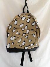 Penguin Backpack Rucksack Bag Soft Canvas Shoulder Work Student Sports CB162