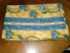 SNOWQUEEN Curtains, blue and yellow, lined, 2 pcs, VGC