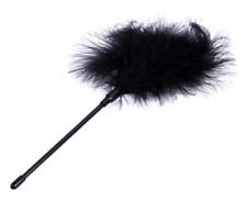 Plumeau , Plume à chatouille coquine noire accessoire sexy , jeux érotiques