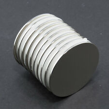 10 Neodymium Magnets 30mm x 1mm DISC STRONG ( PACK 10 ) Neodimio Neodym 3kg