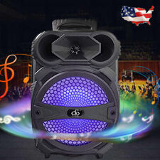 "8"" BT Party Speaker System Bluetooth Big Led Portable Stereo Tailgate Loud 1000W"