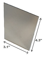 """Unbreakable Mirror 3x4"""" Camping Kit RV Shaving Survival 8x10cm Strong Plastic"""