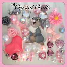 Disney Thumper From Bambi Theme Cabochon gems pearl flatbacks for decoden crafts